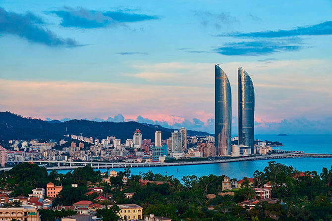 "Xiamen –Known as ""Oriental Hawaii"", Xiamen is a peaceful and quiet coastal city."