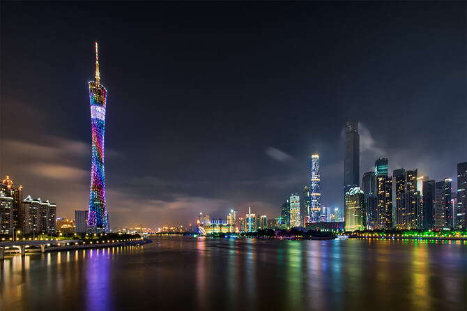 Guangzhou –The most fancy city with nice climate and delicious food, neighboring with Hong Kong.