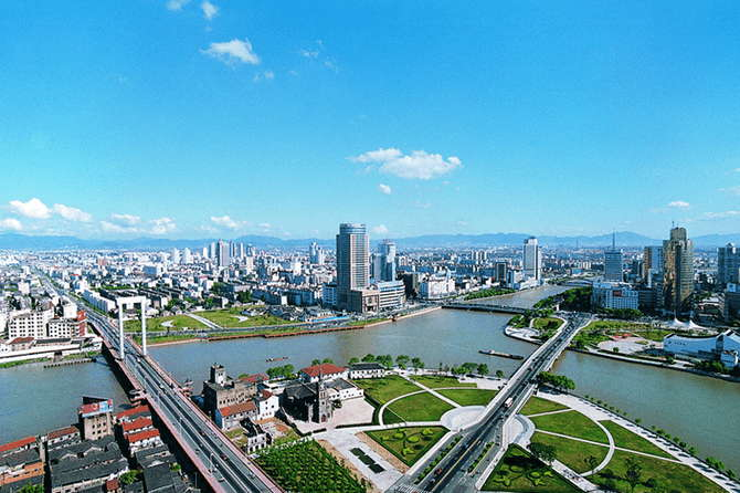 Ningbo –The second biggest city and an important port in Zhejiang province.